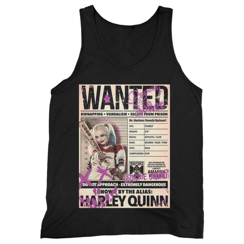 Our cotton wanted harley quinn suicide squad men tank top is perfect for those intense workouts in the gym, at practice or pickup games.