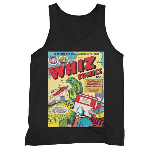 Our cotton whiz comics captain marvel men tank top is perfect for those intense workouts in the gym, at practice or pickup games.