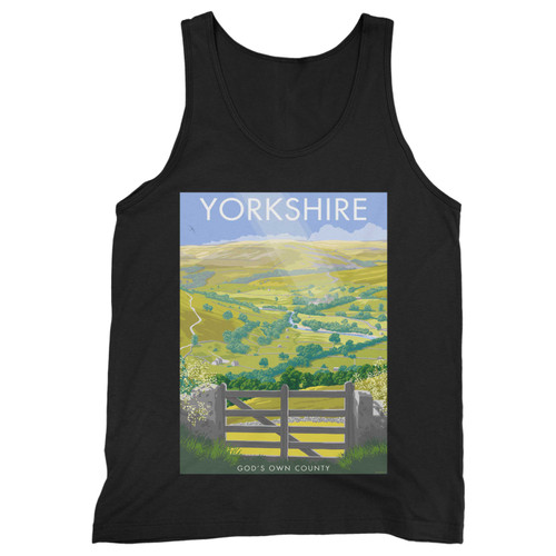 Our cotton yorkshire men tank top is perfect for those intense workouts in the gym, at practice or pickup games.