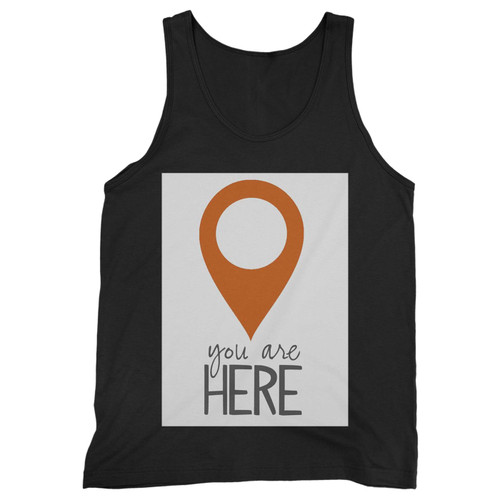 Our cotton you are here men tank top is perfect for those intense workouts in the gym, at practice or pickup games.