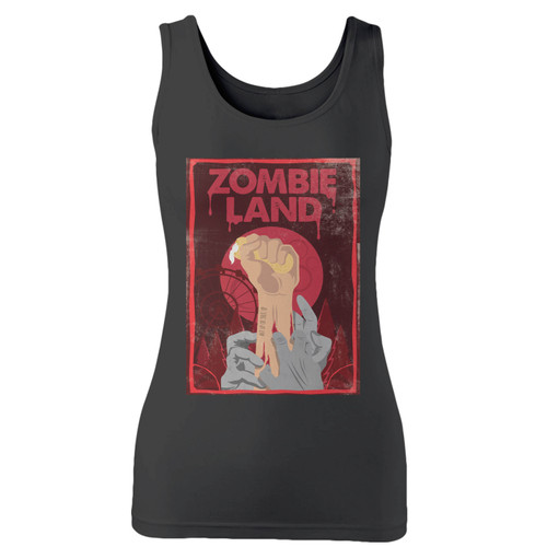 High quality print of this slim fit zombieland double tap hand women tank top will turn heads. And bystanders won't be disappointed - the racerback cut looks good one any woman's shoulders.