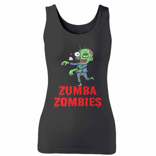 High quality print of this slim fit zumba zombies women tank top will turn heads. And bystanders won't be disappointed - the racerback cut looks good one any woman's shoulders.