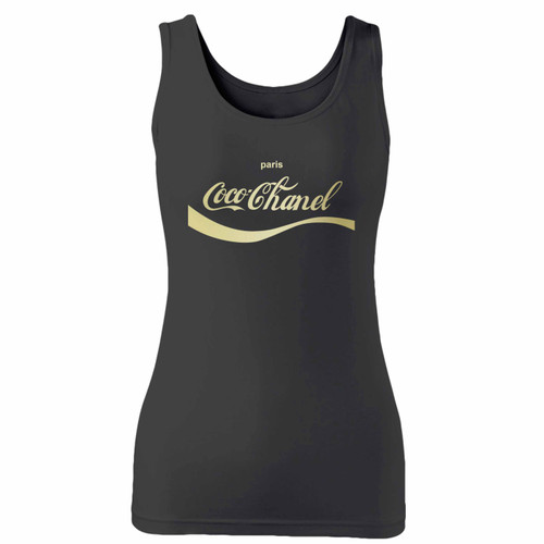 High quality print of this slim fit coke a cola cocochanel paris 1 women tank top will turn heads. And bystanders won't be disappointed - the racerback cut looks good one any woman's shoulders.