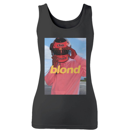 High quality print of this slim fit frank ocean blonde women tank top will turn heads. And bystanders won't be disappointed - the racerback cut looks good one any woman's shoulders.