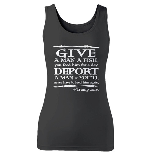 High quality print of this slim fit trump bible verse women tank top will turn heads. And bystanders won't be disappointed - the racerback cut looks good one any woman's shoulders.