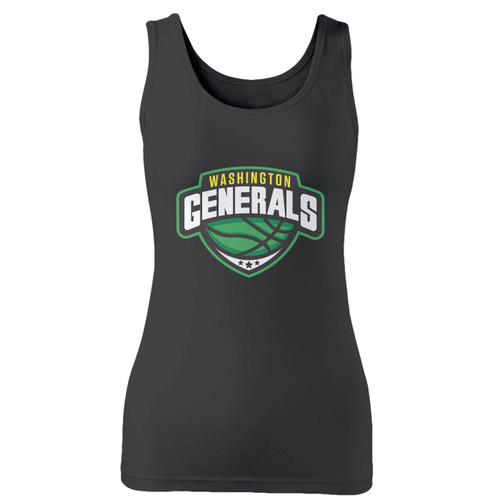 High quality print of this slim fit washington generals basketballl women tank top will turn heads. And bystanders won't be disappointed - the racerback cut looks good one any woman's shoulders.