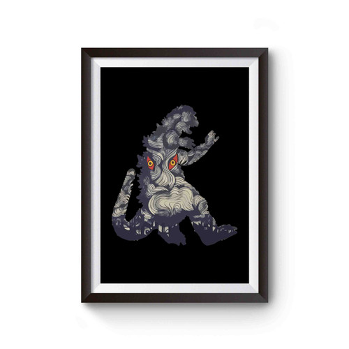 50s Godzilla Monster Poster