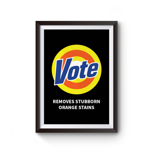 Anti Trump Vote Removes Stubborn Poster