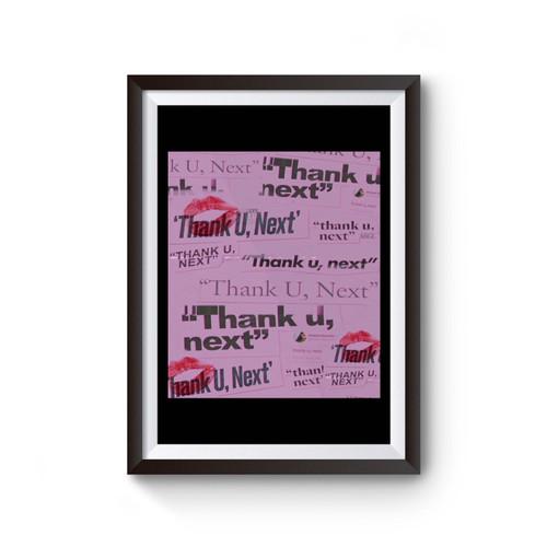 Ariana Grande Thank U Next Handwritting Poster