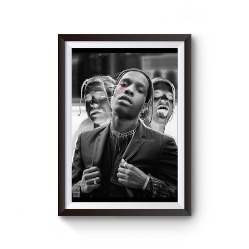 Asap Rocky Stylized Photo Poster