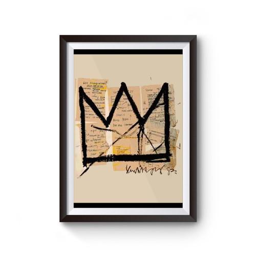 Basquiat Crown Jean Michel Basquiat Logo Poster