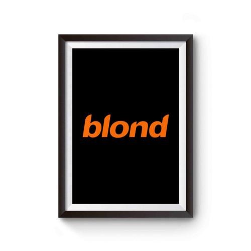Blond Album Frank Ocean Poster