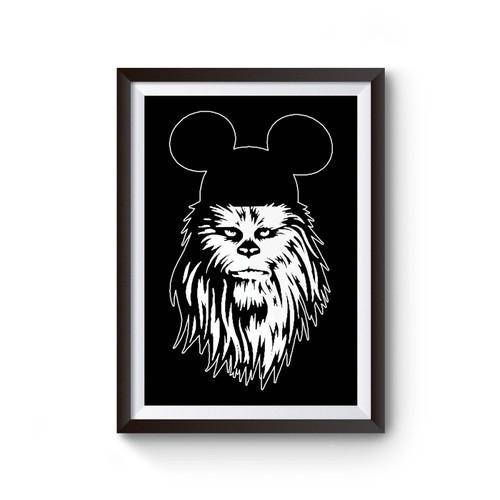 Chewbacca Mickey Star Wars Poster