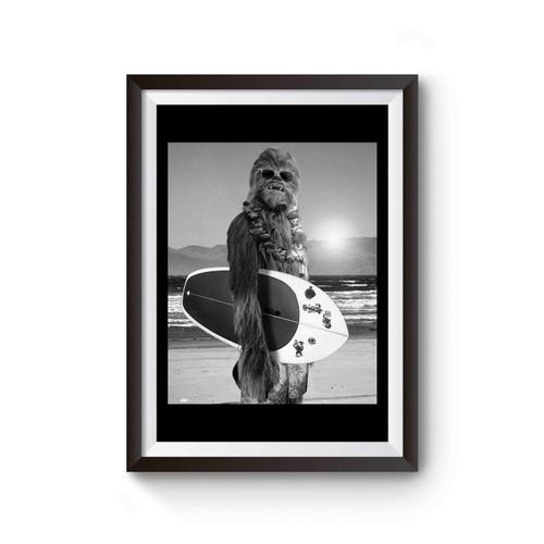 Chewbacca Surfing Star Wars Selfie Poster