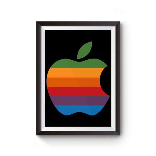 Colorful Apple Logo Poster