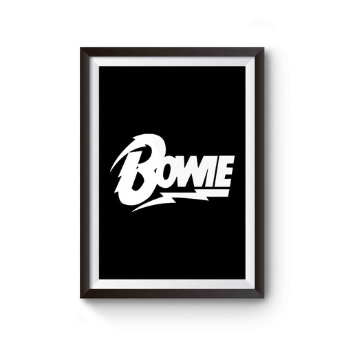 David Bowie Bowie Logo Tribute To The Late David Bowie Poster