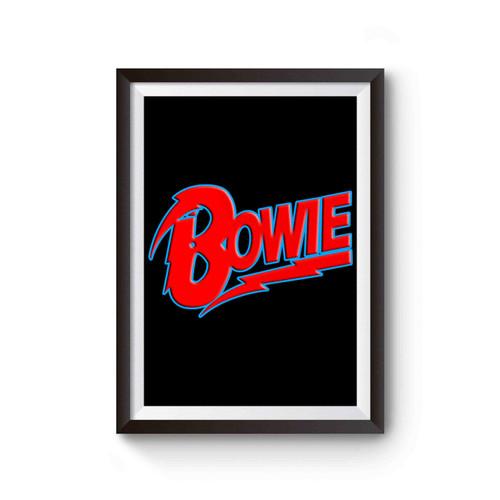 David Bowie Logo Poster