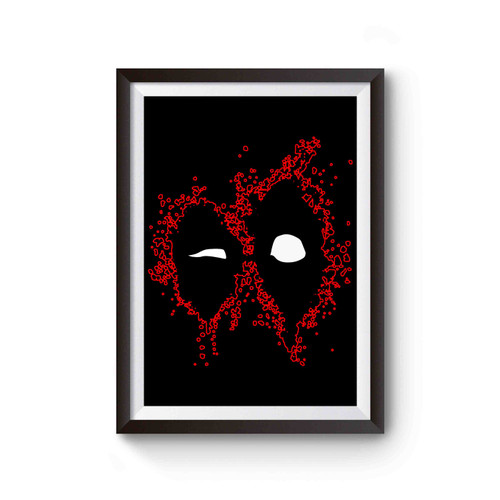Deadpool Face Marvel Superhero Poster