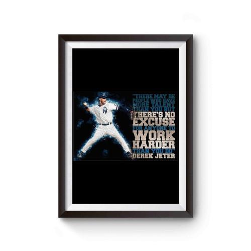 Derek Jeter Illustration Derek Jeter Poster Derek Jeter Yankees Poster