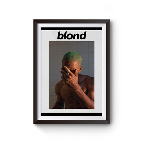Frank Ocean Blonde Music Poster