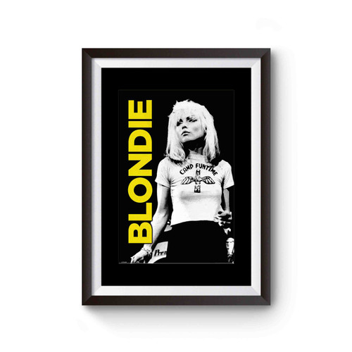 Gloss Black Framed Debbie Harry Blondie Poster