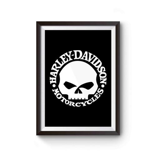 Harley Davidson Willie G Skull Distressed Poster