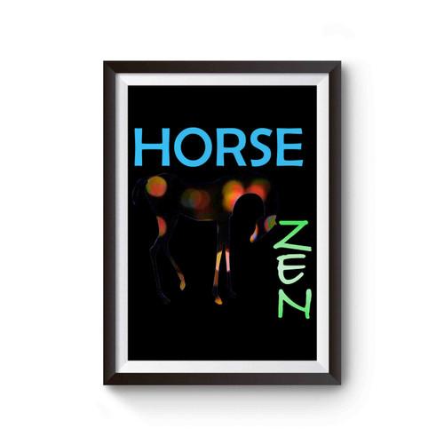 Horse Zen Poster