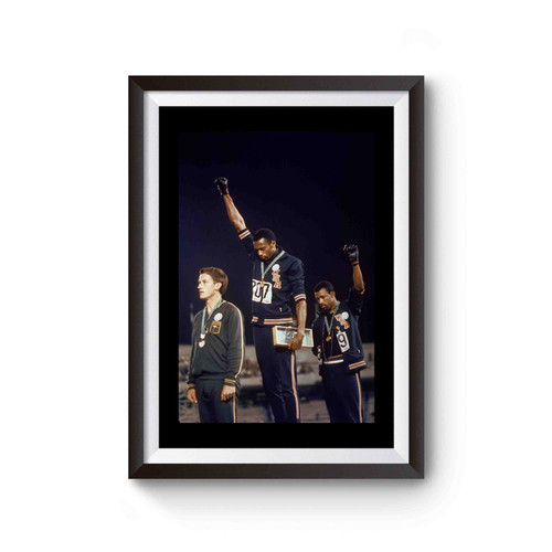 John Carlos Tommie Smith Black Power Salute 1968 Summer Olympics Poster