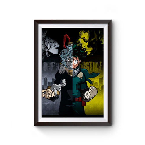 One Justice My Hero Academia Poster