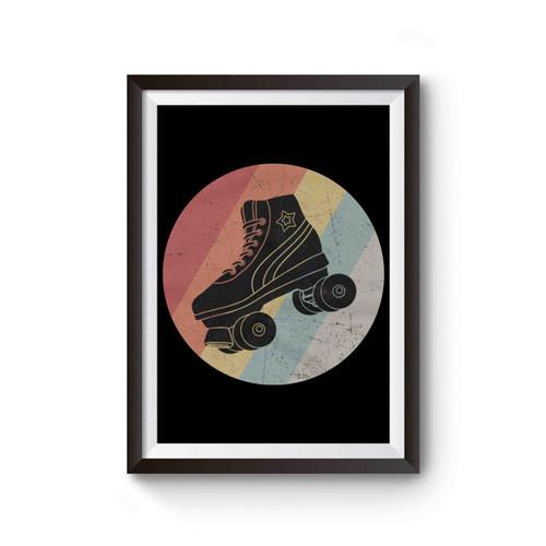 Retro Roller Skates Poster