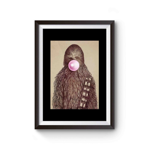 Star Wars Chewbacca Chewing Gum Poster