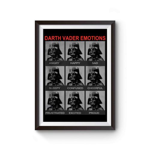 Star Wars Darth Vader Emotions Moods Of Darth Vader Poster