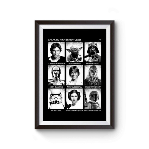 Star Wars Galactic High School Fun Poster