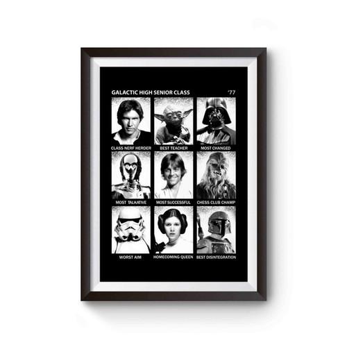 Star Wars Galactic High School Fun Poster