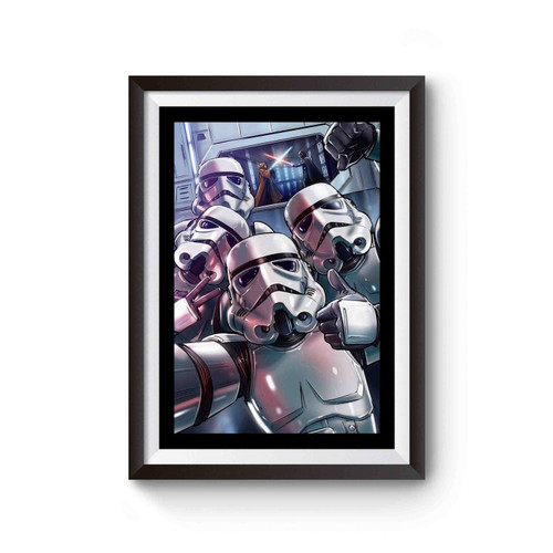 Stormtrooper Selfie Star Wars Funny Poster