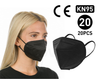 Black KN95 Disposable 4-layer Face Mask, 20-pack