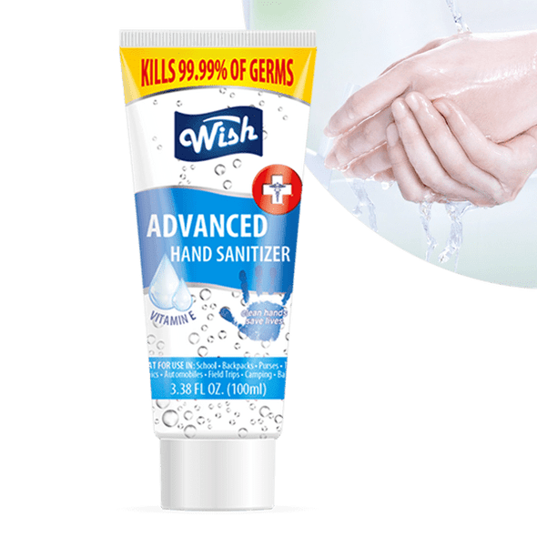 Wish Hand Sanitizer 3.38oz Tube with Vitamin E