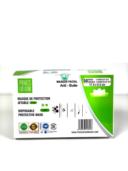 4Ply-Single Use Mask - 50 pack