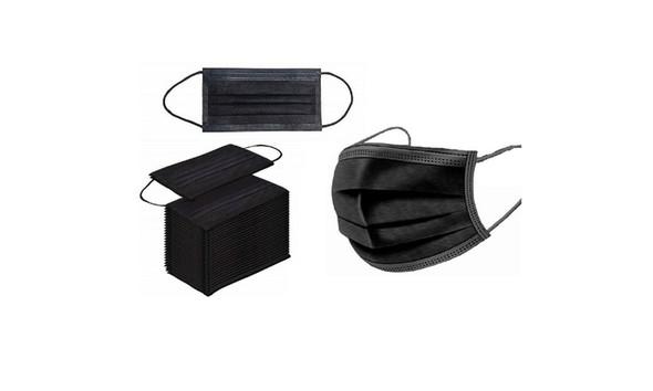 Black 3Ply-Disposable Face Mask - 50 bundle