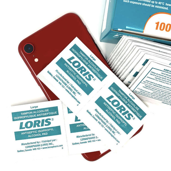 LORIS-104-01-BX/100 ALCOHOL PREP PAD 70%, LARGE