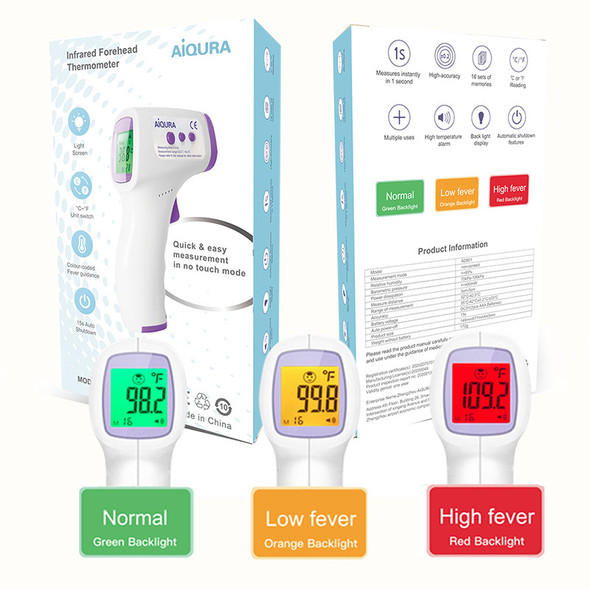 Infrared Digital Thermometer AD-801 by AiQURA