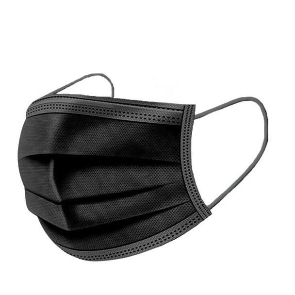 Black 3Ply-Single Use Mask - Box of 50