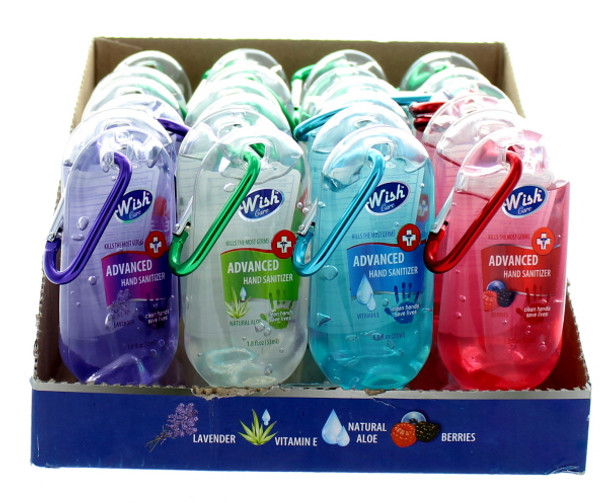 Wish Hand Sanitizer 1.8oz with Carabiner Clip