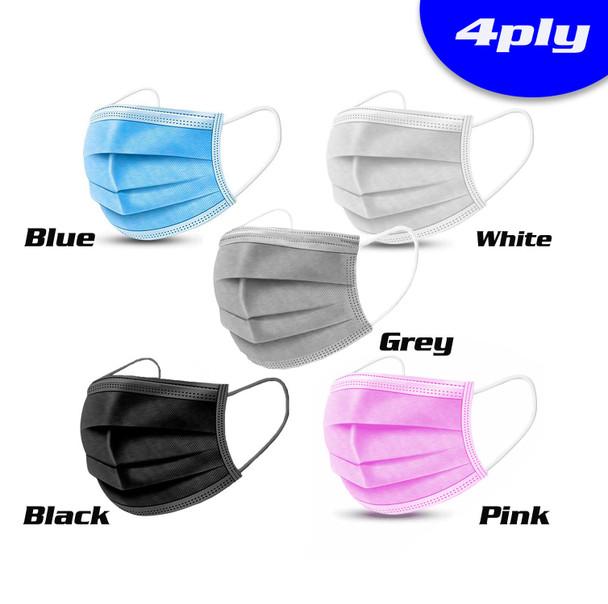 4Ply-Single Use Mask - Box of 50