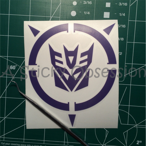 Transformers Inspired Decepticon Energon Decal Sticker