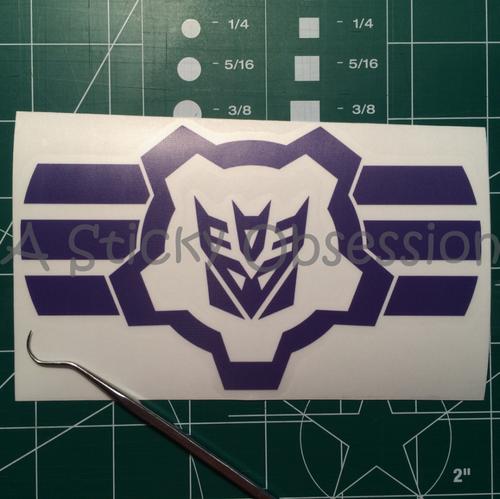 Transformers Inspired Decepticon Gear Decal Sticker