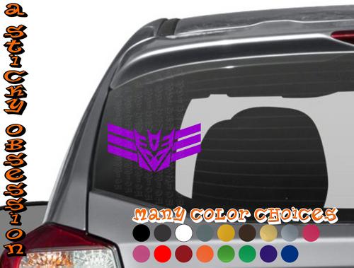 Transformers Inspired Decepticon Cyberton Elite Decal Sticker
