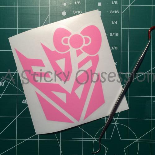 Transformers Inspired Female Decepticon Fem Decepticon Bow Decal Sticker