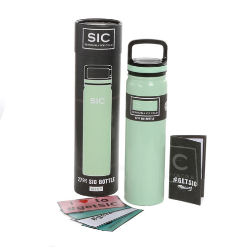 SIC Cups 27oz Stainless Steel Mint Powder Coated Bottle