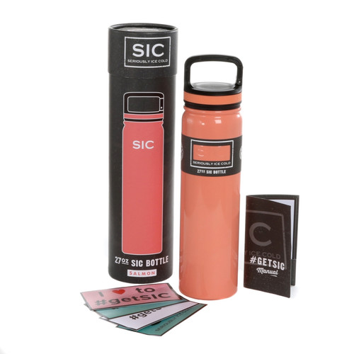 SIC Cups 27oz Stainless Steel Salmon Powder Coated Bottle